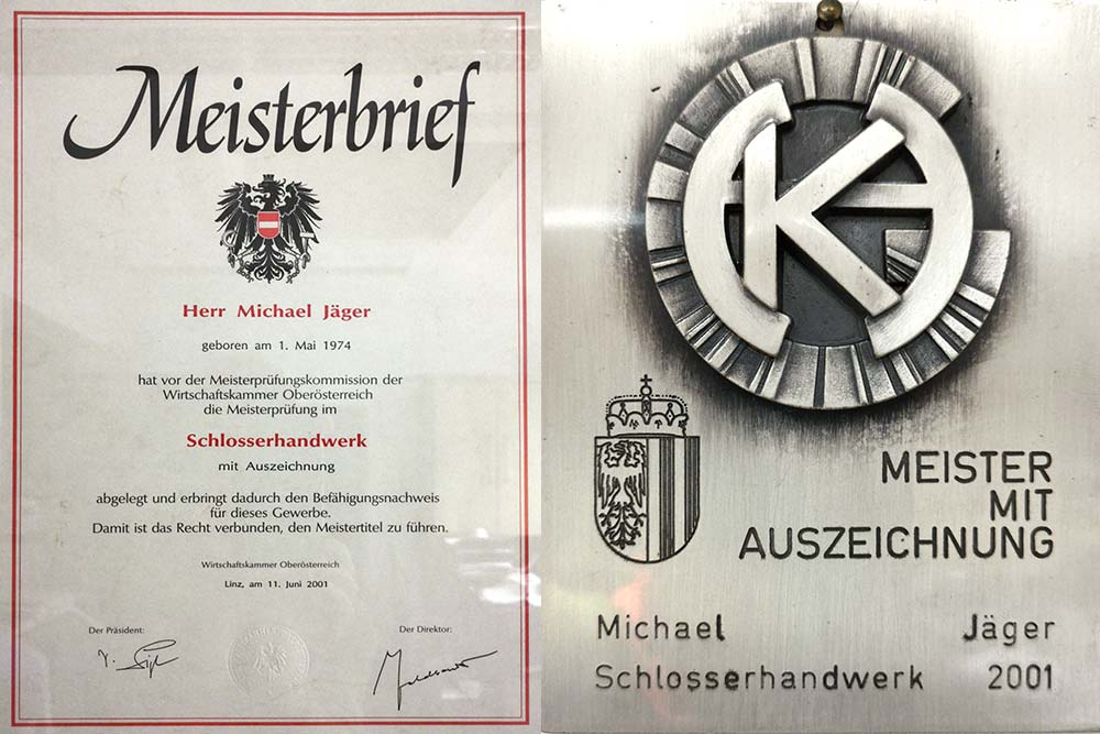 Meisterprüfung Michael Jäger, 2001