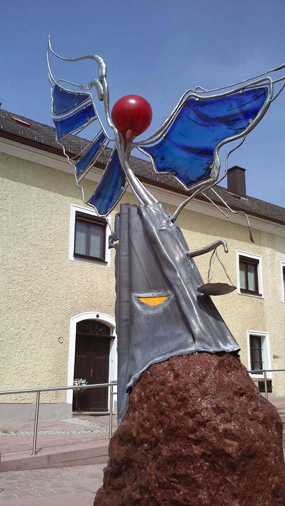 Jäger Metalltechnik: Stadtbrunnen Hl. Michael Stadt Haag