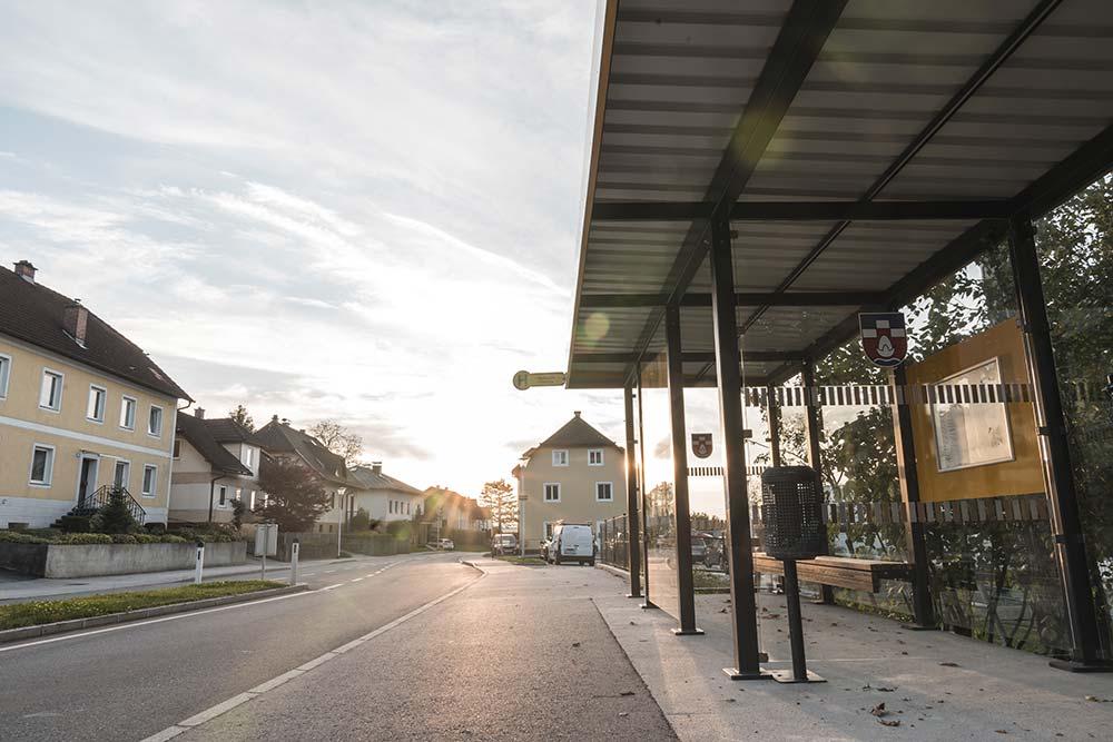 Jäger Metalltechnik: Projekt Busterminals für Gemeinde Nußbach
